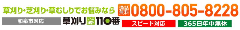 和泉市の草刈り・草むしり(草取り)芝刈りは草刈り110番