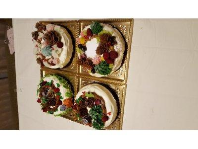12月13日 greeting クリスマスリースケーキ、餡クリームレッスン