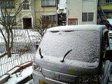 1月2日は雪でした。