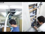 連休前半戦、門戸厄神さん近くで調剤薬局の改装工事しています。