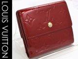LV/ヴィトン ヴェルニ Wホック折財布 赤 M93529