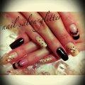 nail salon glitter