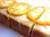 レモンケーキのフルーツアイシング