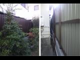須磨海岸近くの須磨浦通りの塀工事完成しました☆明日は地蔵盆~♪