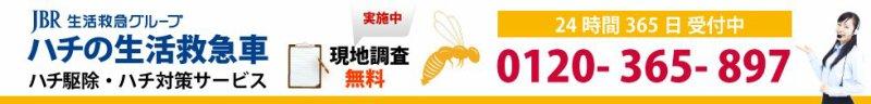 【 百合が原駅 】 周辺の蜂(ハチ)駆除・蜂の巣駆除、スズメバチ・アシナガバチ・ミツバチ等の蜂(はち)退治、蜂対策に対応!0120-365-897