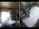 一戸建貸家改装工事 酷暑の中 職人さんたち頑張って作業中です!