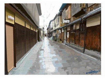 街の風景(精密画仕様)
