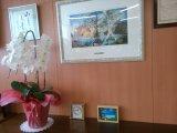 9/3 滋賀医科大学病院に「ミニ絵画展」の作品を寄贈しました。