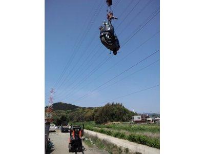 空飛ぶ バイク?