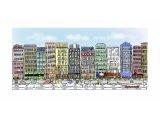 水彩技法イラストの世界(街の風景)