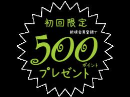『お店のミカタ限定』 新規会員登録で500ポイントプレゼント!