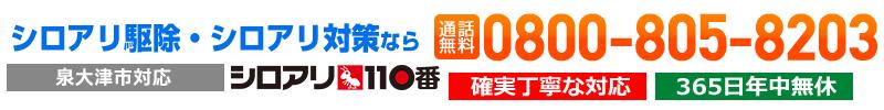 泉大津市のシロアリ駆除は平米1,200円から対応!シロアリ110番