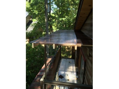長野県安曇野市一戸建て  バルコニーに屋根を付けに行って来ました。