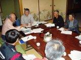 苗植えの前のミーティング