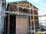 昨日の続き・・・神戸市兵庫区中之島で倉庫の外壁補修!