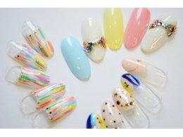 【ネイル】自爪を傷つけないソフトジェルネイル(アート付き)¥6820