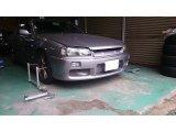 兵庫県 姫路市 34スカイライン クスコ 車高調 足回り交換 アライメント調整 ランニングフリー