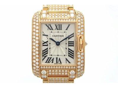 Cartier 時計 クオーツ HP100558 タンクアングレースSM YG ダイヤモンド 美品