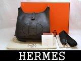 HERMES/エルメス エブリン トゴ黒 □L刻