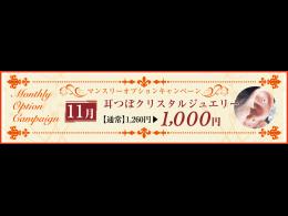 耳つぼクリスタルジュエリー(通常:1,260円)を1,000円に!