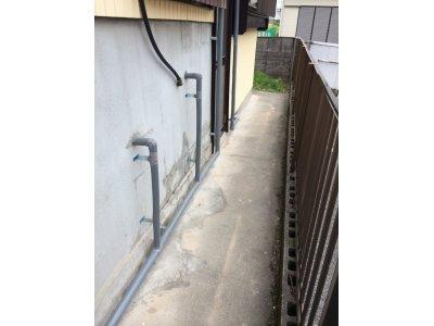 漏水による水道配管引き直し工事