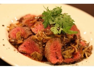 国産牛フィレ肉のステーキ