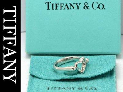 Tiffany/ティファニー オープンハートダイヤリングPT950