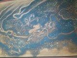 国貞寺の欄間に描かれる龍の墨絵(新田俊純「猫絵の殿様」筆)