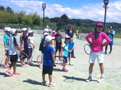 「JPTA能登国際女子オープンテニス2015」事前イベント 津幡町テニスレッスン会