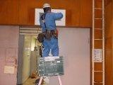 市内 青少年会館誘導灯設置工事
