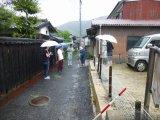 台風接近のなかでの立会