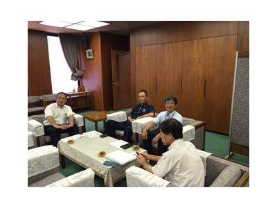 泉佐野市と青パト防犯連絡会について打ち合わせを行いました。