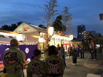 元三島神社のお祭り