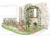 エクステリア(外構)とガーデン(造園・庭)を手描きの図面でご提案します