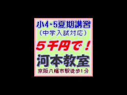 夏期講習(中学入試対応小4・5)が5千円で受講OK