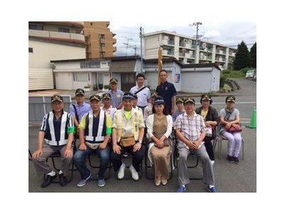泉佐野市の防犯活動ボランテイアの皆さんが集まりました。