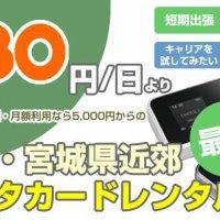 モバイルWiFi,iPadレンタルの『仙台WiFiレンタル.com』