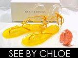 SEE BY CHLOE/シーバイクロエ ビニールサンダル黄37