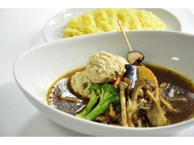 豆腐つくねと3種のきのこスープカレー