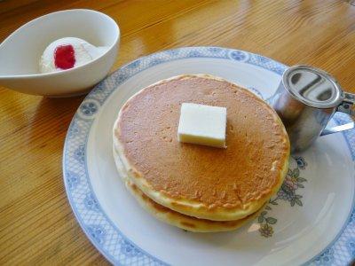 きれいな形のホットケーキが☆