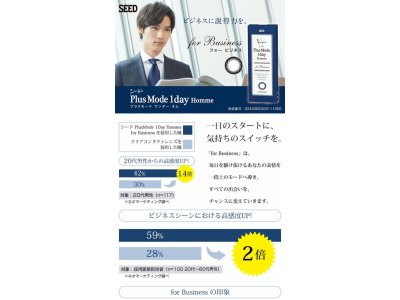 男性向けサークルレンズ新発売!