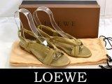 LOEWE/ロエベ ラムスキンフラットサンダルゴールド35