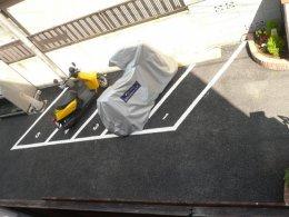 マンション海老原 バイク駐輪場