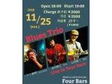 11月25日はBlues Trio(トシ新町、田中晴之、山田春三)LIVE DAY★