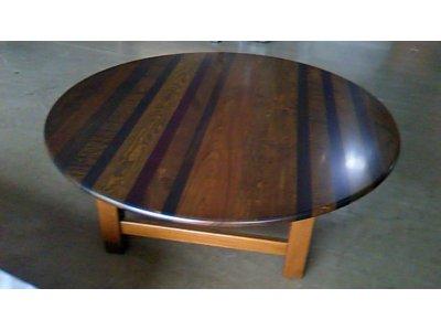 秋色の渋め好み 丸テーブル(ローテーブル)