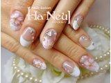 【ブライダル】純白フレンチ×桜ネイル♪