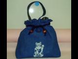 藍染め巾着袋