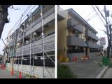 神戸市東灘区本山北町の外壁塗装工事 足場撤去しました!
