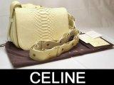 CELINE/セリーヌ パイソンショルダーバッグ156774白