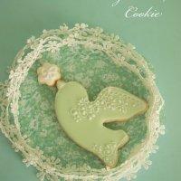 クッキー教室|Mint green bird